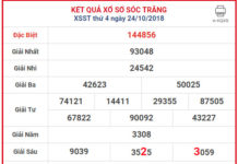 xo so soc trang 31-10-2018